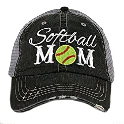 Image: Softball Mom Sports Women's Trucker Cap Hat by Katydid