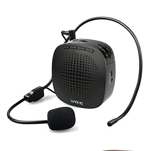 Voice Amplifier, MAONO Rechargeable Portable Mini Personal Speaker with Microphone Headset for Teachers, Coaches, Tour Guides, Market, Classroom, Meetings, Outdoors, C03