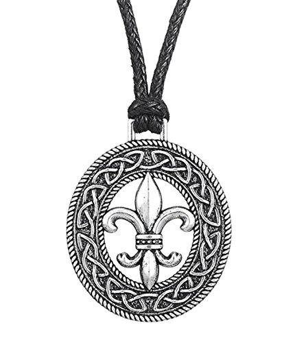 Skyrim mittelalterliche französische Blume, Lilie Fleur de Lis Zubehör Slipknot Anhänger Halskette Schmuck