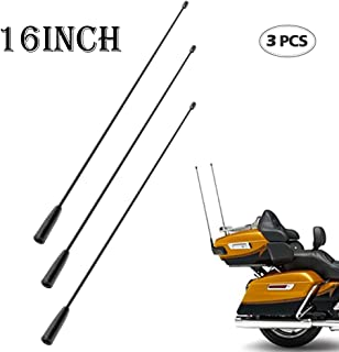 BASIKER 2-Pack Antenna Mast for Harley Davidson Tour Street Road Glide 1989-2017 5-1//2 Inch Rocket Type