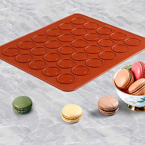 MAOJIE Silikonform 30 Cavity Macaroon Backform Macaron Silikon Pad Antihaft-Backform Macaron Cake Decor
