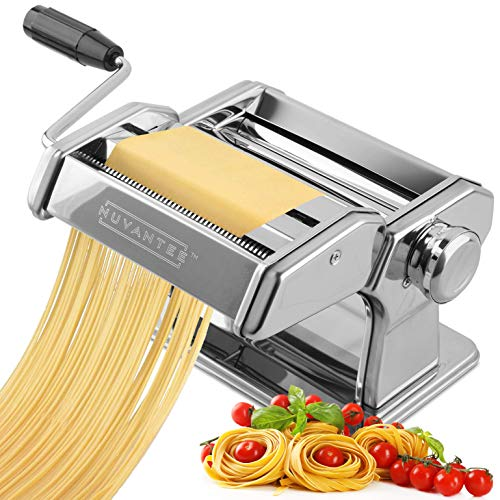 Nuvantee Pasta Maker  Highest Quality Pasta Machine  150 Roller with Pasta Cutter  7 Adjustable Thickness Settings