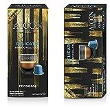 AICON - 100 cápsulas de aluminio compatibles con Nespresso® - Liquid Gold Coffe (Delicato - Espresso aterciopelado).