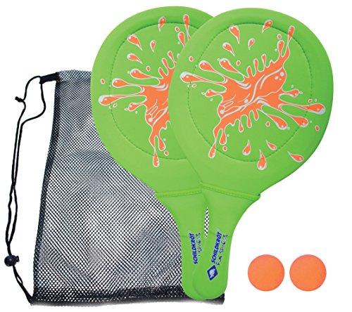 Schildkröt Funsports 970219, Set Beachball Unisex Bambini, Verde/Arancione, M