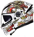 Motorbike Helmet Casco integral para motocicleta Casco Bluetooth integrado para motocicleta, aprobado por DOT/ECE antivaho doble visera abatible hacia arriba casco de locomotora de motocicleta para ho