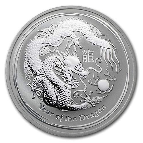 Lunar II Drache 2012 1 Unze Silber Münze Silbermünze Australien 1 oz silber in Münzkapsel