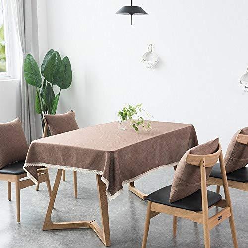 sxh2818517 Tischdecke, dekorativ, einfarbig, Tischdecke aus Leinen mit Pranzo-Tischdecke für Zuhause