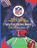 Ultimate American National Football League - NFL Coloring Book (For Adults & Kids): 50+ Amazing Illustrations (Team Logo, Rivalries, Silhouettes) with HISTORY OF CLUBS, Space for Writing short Notes
