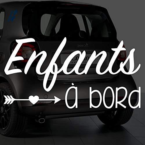 Sticker bébé à bord pour voiture Enfants à Bord 20 cm Blanc - Anakiss