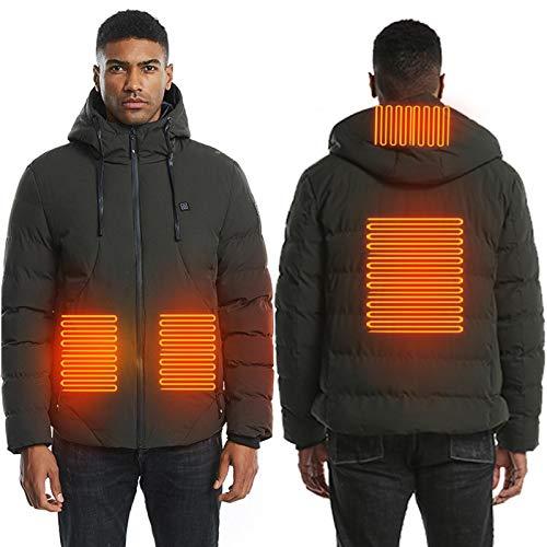 brightsen Chaqueta de calefacción para hombre, con 4 zonas USB, con calefacción, 3 niveles de temperatura