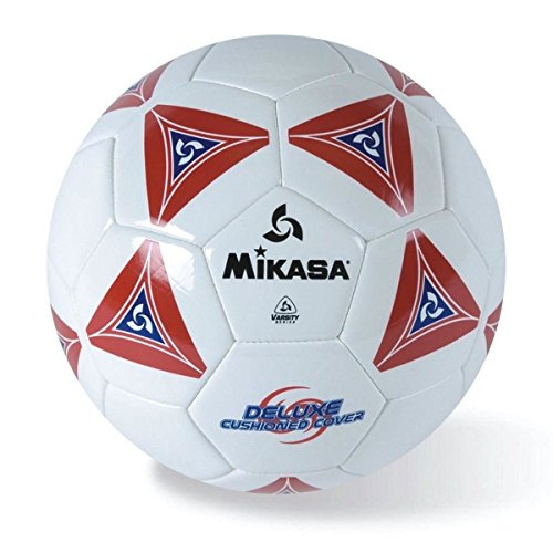 Mikasa Serious Soccer Ball (Red/White, Size 5)