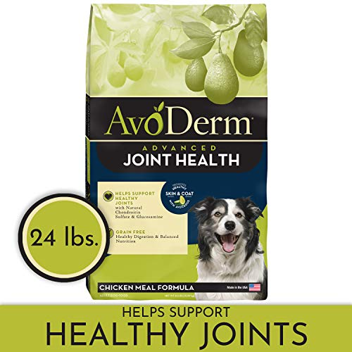 AvoDerm Natural Advanced Joint Health Dry Dog Food, Grain Free,...