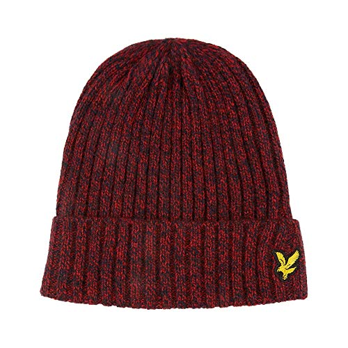 Lyle and Scott Mouline - Gorro, Color Rojo y Azul Marino