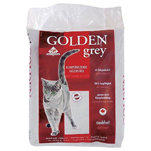 Cominter Animal Health Aglomerante Golden Grey Tierra para Gatos Absorbente Antiolor de hasta 2 Meses Uso. Arena Biodegradable Suave de Fibra Vegetal Ecológica, 14 kg (Paquete de 1), 14000 ✅