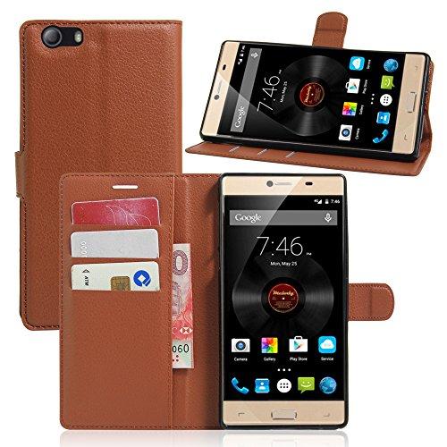 Litao-Case CN Hülle für Elephone M2 hülle Flip Leder + TPU Silikon Fixierh Schutzhülle Case 7