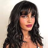 12' Perruque de Cheveux Humains Body Wave Perruques Courtes Cheveux Naturels Perruques Femmes Cheveux Humain 130% Densité 100% Non Transformée Brésilienne Perruques Noire (12')