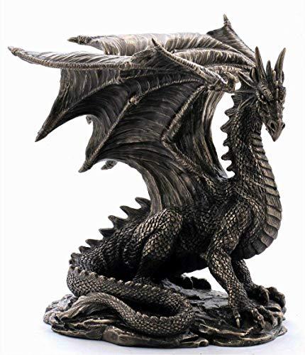 Nemesis nu Grawlbane de draak bronzen beeldje