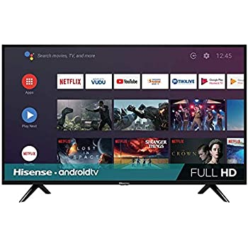 """Hisense 40H5500F Android TV Smart TV 40"""", 1080p, Built-in Wi-Fi, 2019, Color Negro"""