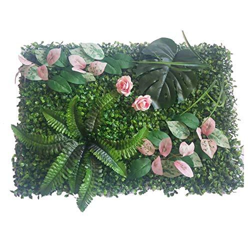 60 * 40 cm Falso Artificial Grass Milán Pared Fondo de Las Plantas de Hierba Artificial Boda Inicio Jardín Vertical de decoración decoración de la Pared (Color : Style 6)