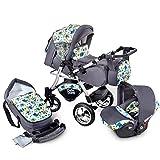 Buggie Urbano OWLS   3-in-1-System   Kinderwagen, Kombikinderwagen, Babyschale, Autositz System   Zwei-Wege-Griff   Travel System   Moderner, Leichter Trolley mit Allem Zubehör Inklusive