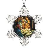 Adornos de Navidad, Vintage Navidad Natividad Bebé Jesús En Pesebre Ornamento Árbol Colgante Decoración Regalo Para Familias Amigos,3 Pulgadas