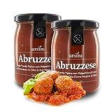 Ursini Salsa de Tomate con trocitos de albóndiga - 260 gr (Paquete de 2 Piezas)