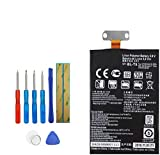 E-YIIVIIL Li-Polymer BL-T5 Replacement Battery Compatible with Google Nexus 4 E960, fits LG BL-T5 with Tools 2100mAh 3.8V