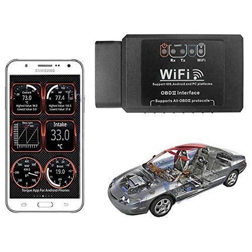F04C Auto Gadget OBD2 Diagnosegerät WiFi Adapter V1.5 Auto Car Fehler Diagnostic Scanner ST Windows Android IOS, Auto Diagnosegerät Engine Light, OBD II Code Reader für IOS Android Windows
