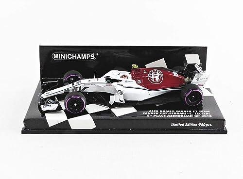 Minichamps- Voiture Miniature de Collection, 417180416, Rouge Blanc