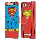 Head Hülle Designs Offizielle Superman DC Comics Klassisches Kostum Logos Leder Brieftaschen Huelle kompatibel mit Wileyfox Spark X