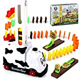 100 Piezas Juego de Juguete de Tren Domino, Domino Juguete de Tren, Educativos Domino Train Toy Set para Toy Girl Boy Niños Niños Regalo,Blanco