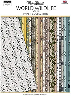 PAPER BOUTIQUE Pollyanna Pickering's World Wildlife Volume III Backing Paper Collection