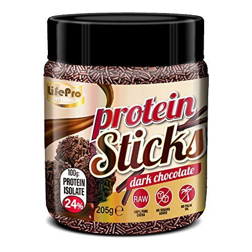 Life Pro Fit Food Protein Sticks Dark Chocolate | 24% Proteína | Sticks Proteicos Sabor Chocolate Negro | Sin azucares añadidos | Sin conservantes artificiales