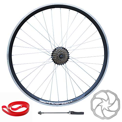 Madspeed7 QR 26' (ETRTO 559x19) Mountain Bike REAR Wheel Shimano 7 speed Disc Brake Rotor