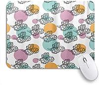 VAMIX マウスパッド 個性的 おしゃれ 柔軟 かわいい ゴム製裏面 ゲーミングマウスパッド PC ノートパソコン オフィス用 デスクマット 滑り止め 耐久性が良い おもしろいパターン (ユニークアーティチョークブラックホワイトベジタブルプリント)