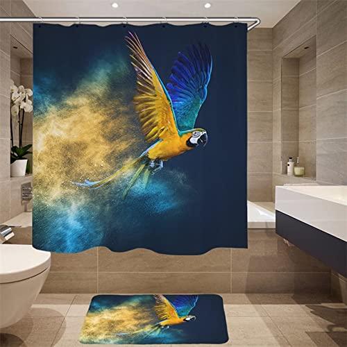 Hochwertiger Möbelbedarf Digitaldruck 3D Simulation Tiermuster Duschvorhang Schwan Stoff Duschvorhang Q6 150x180cm