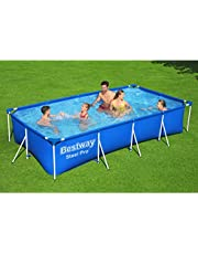 A large rectangular pool of Bestway, Blue