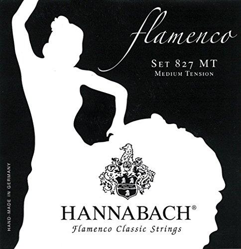 Hannabach Cuerdas para Guitarra Clásica, Serie 827 Tensión Media Flamenco Classic - juego 3 cuerdas agudas (Mi1+Si2+Sol3)