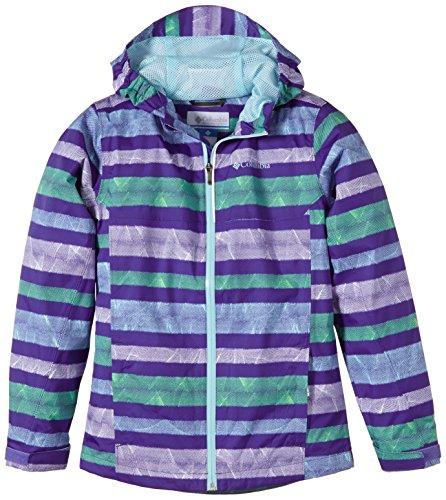 Columbia Splash Maker III Rain Veste pour Enfant XXS Violet - Light Grape Stripe