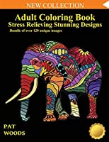 Adult Coloring Book: Stress Relieving Stunning Designs: 120 Unique Images: Stress Relieving Designs