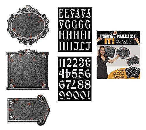 Amscan International CO Custom Gothic Mansion - Kit de decoración gótica para casas