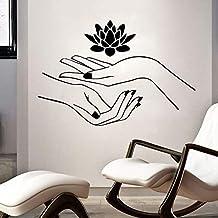 Spa Schoonheid Nagelsalon Massage Muursticker Lotus Bloem Muursticker Verwijderbare Waterdichte Art Muurschilderingen Slaa...
