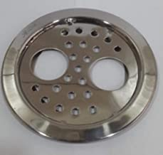 """KYOTO Grating Double Hole Lilly Round Lock Stainless Steel Plain with Hole 5""""X5"""" Grating Cut Jali/Hole Jali/Drain Cover/Ja..."""
