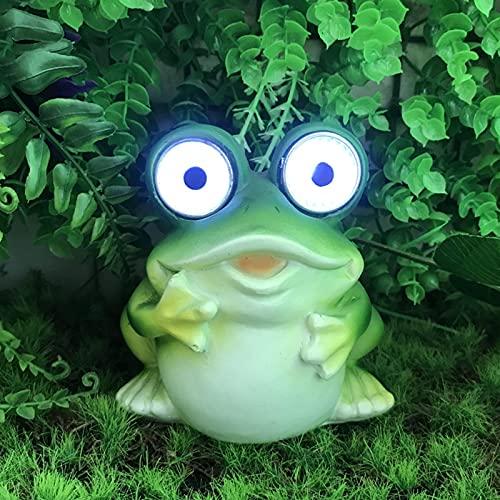 Frosch Deko, Gartendeko Solarleuchte Außendekoration, Für Terrasse Vorgarten Solar Resin Outdoor Dekoration Licht Home Ornament Crafts