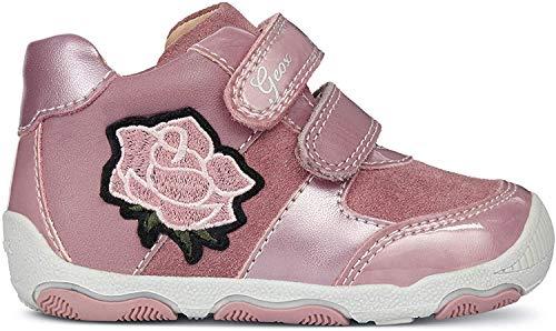 Geox Baby Mädchen B New BALU' Girl B Sneaker, Pink (Dk Pink C8006), 24 EU
