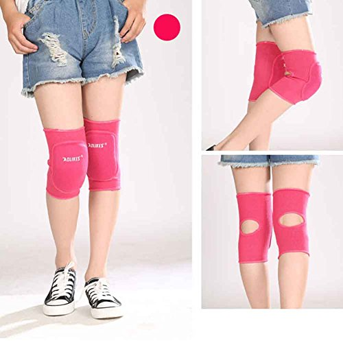 JasmineLi Juniors Knee Sleeves Breathable Elastic Knitted Thicken Sponge Knee Padding Ideal for Dancing/Skiing/Football/other sports