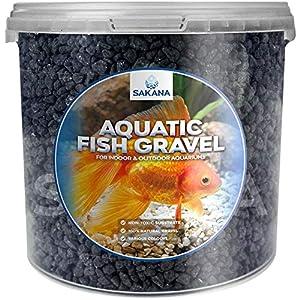 Sakana Black Aquatic Fish Gravel – Premium Substrate...