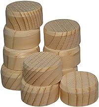75 stuks dwarshouten plaatjes 25 mm van vurenhout - houten plaatjes 10 mm met vezel
