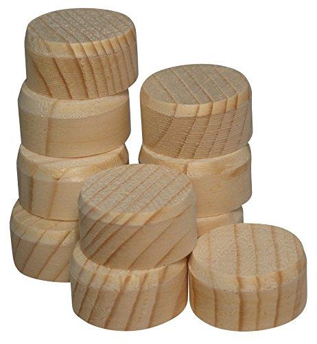 150 Stk Querholzplättchen 15 mm aus Fichte - Holzscheiben 15 mm mit Fase