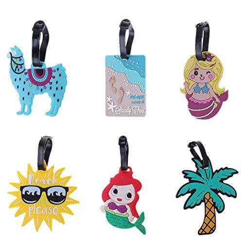 Kimruida Cartoon Gepäckanhänger Kreative Koffer ID Adresse Halter Gepäck Bordkarte Tags